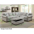 George Fabric Corner Lounge Suite