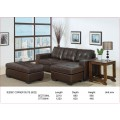 Jessie Bonded Leather Corner Suite with Ottoman