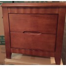 Solid Rubber Wood Bedside Table